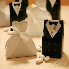 wedding favor boxes wholesale bridal gift cases groom tuxedo dress gown ribbon wedding favor