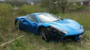 blue ferrari ferrari that went u0027off roading u0027 in outlane was on a test drive