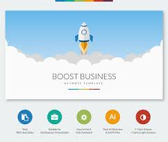 boost business keynote template on behance