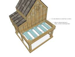 Small Wood Box Plans Free by Ana White Small Chicken Coop With Planter Clean Out Tray And