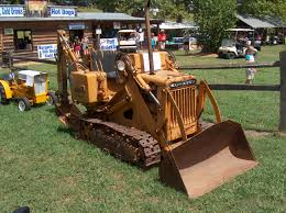 komatsu d105 with backhoe antique tractors pinterest tractor