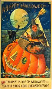 vintage halloween witch postcards c 1900 u0027s vintage everyday