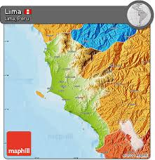 lima map free physical map of lima political outside