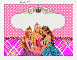 barbie princess charm free printable invitation candy