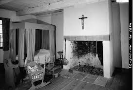 file photograph of a room restored to the original look in the