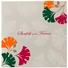 sle indian wedding invitations indian wedding invitation in ivory with multi color leafs