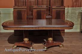 Dining Room Sets For 8 People Narrow Regency Designer Mahogany Dining Table With Gold Leaf