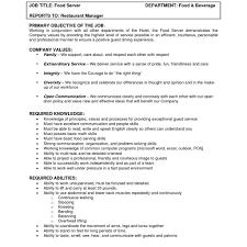 line cook job description sample sample resume country club server