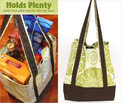 make your own reusable grocery bags sew4home
