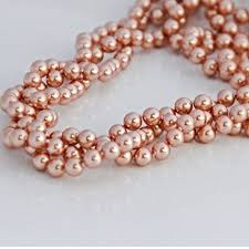 chunky pearl crystal necklace images Chunky rose gold color swarovski crystal element jpg
