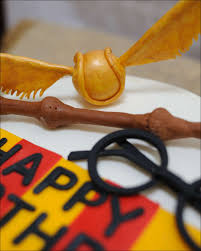 harry potter cake w golden snitch and wand gray barn baking