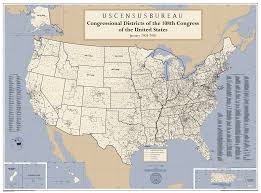 Full Map Of The United States by 108th Congressional District Wall Maps Geography U S Census