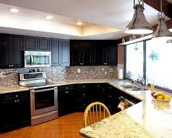 Dark Kitchen Cabinets With Light Countertops - dark kitchen cabinets and light granite home design ideas