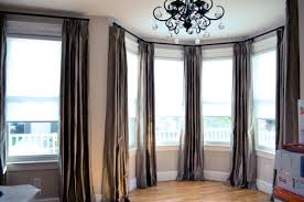 delightful beauty conduit pipe bay window curtain rod bed sheet glamorous bay window drapes curtains photo ideas