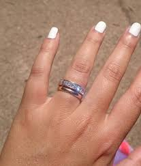 most comfortable wedding band your less eternity band or plain band