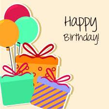cartoon style happy birthday greeting card template free vectors