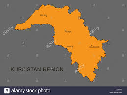 Kurdistan Map Southern Kurdistan Northern Iraq Krg Map With Indication Of The