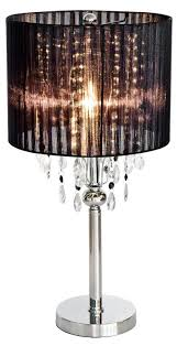 black thread crystal chandelier shabby chic table lamp mulberry moon
