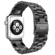 black stainless steel link bracelet images Hoco stainless steel link bracelet apple watch 42mm grey jpg