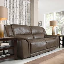 furniture of america hartwig recliner sofa with drop down console