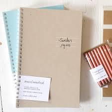 Pressed travel notebook letter c design