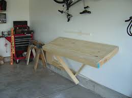How To Make A Fold Down Workbench How Tos Diy by Garage Workbench Folded Up On The Wallld Down Work Benchr My