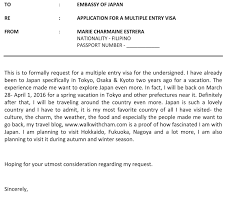Letter Of Intent For Grant Sample by Walk With Cham How To Apply A Multiple Entry Visa To Japan For