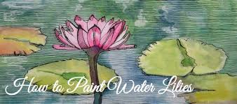 mixed media how to paint a water lily with watercolor ink