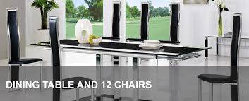 12 chair dining table glass dining table and 12 chairs modenza furniture