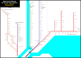 Train Map New York by World Nycsubway Org Metro North Route Map