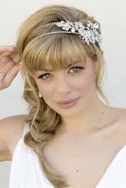 bridal headband bridal headbands side accent bridal headband hairstyles for