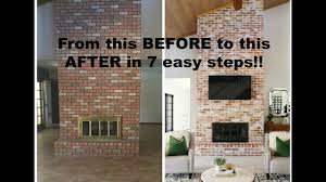 how to grout a brick fireplace youtube