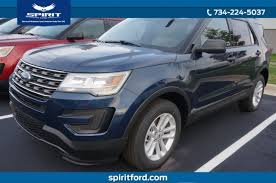 two door ford explorer 2017 ford explorer awd suv for sale in dundee mi 20363