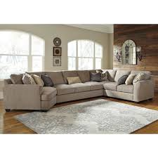 benchcraft pantomine 4 piece sectional with left cuddler u0026 armless