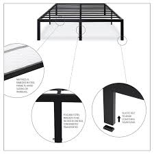 Sturdy King Bed Frame King Size Sturdy Metal Platform Bed Frame Holds Up To 2 200 Lbs