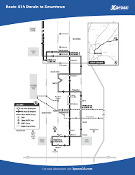 Atlanta Marta Train Map by Route 416 U2013 Dacula To Downtown Xpress