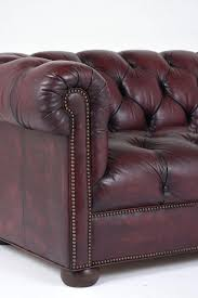 Plum Leather Sofa Vintage Tufted Leather Sofa 1970s For Sale At Pamono