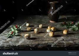 kuciukai traditional lithuanian christmas eve biscuits stock photo