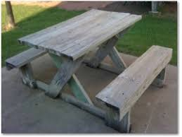Free Wood Picnic Bench Plans by Picnic Table Plans