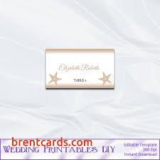 beach wedding name cards rustic beach wedding place card template