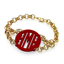 initials bracelet colourful monogram initials bracelet