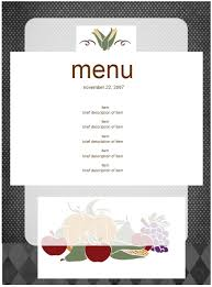 11 birthday menu templates u2013 bates on design