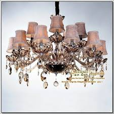 Large Glass Chandeliers European Flower Crystal Chandelier Light Lampshades Large Glass