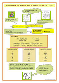 148 free esl possessive adjectives worksheets