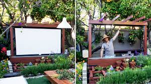 Backyard Theater Ideas Show Thyme How To Build An Outdoor Theater In Your Garden The