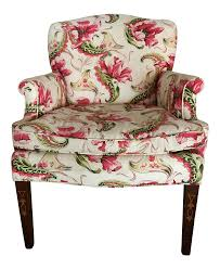 Floral Accent Chair Country Floral Accent Chair Chairish