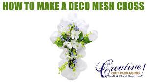 deco mesh supplies how to make an easter cross deco mesh wreath
