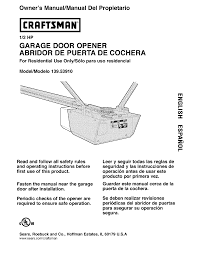 garage door opener installation instructions craftsmans wageuzi