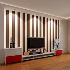 home decor wall pictures modern simple coffee black bold stripe wallpaper roll living room