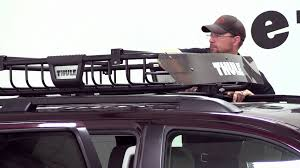 roof rack for toyota sequoia review of the thule moab roof top cargo basket on a 2012 toyota